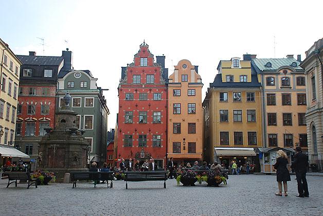 Plaza Stortorget en Estocolmo, Suecia. Foto © Patrick Mreyen